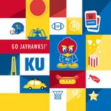 Kansas Jayhawks Collage Plakater af Lulu