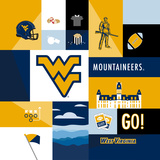 West Virginia Mountaineers Collage Posters af Lulu