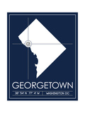 Georgetown University State Map Posters by  Lulu