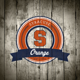 Syracuse Orange Logo on Wood Posters by  Lulu