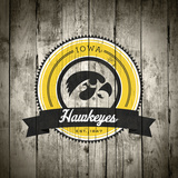 Iowa Hawkeyes Logo on Wood Posters by  Lulu