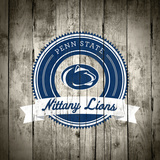 Penn State Nittany Lions Logo on Wood Plakater af Lulu