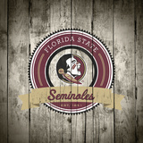 Florida State Seminoles Logo on Wood Posters af Lulu