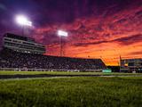 ECU: Sunset at Dowdy-Ficklen Stadium Photographic Print by Rob Goldberg