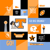 Tennessee Volunteers Collage Prints by  Lulu