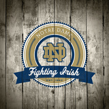 Notre Dame Fighting Irish Logo on Wood Prints by  Lulu