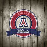 Arizona Wildcats Logo on Wood Posters af Lulu