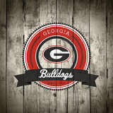 Georgia Bulldogs Logo on Wood Plakater af Lulu