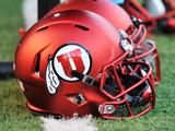 Utah Utes Football Helmets Fotografisk tryk af Gene Sweeney Jr