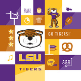 LSU Tigers Collage Posters by  Lulu