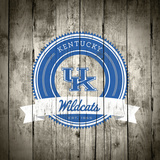 Kentucky Wildcats Logo on Wood Posters af  Lulu