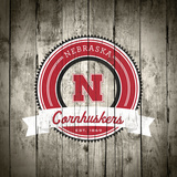 Nebraska Cornhuskers Logo on Wood Posters by  Lulu