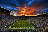 Oregon: Sunset over Autzen Stadium Fotografisk trykk av Jason Friesen