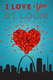 I Love You St. Louis, Missouri Plastic Sign by  Lantern Press