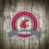 Washington State Cougars Logo on Wood Posters af  Lulu