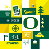 Oregon Ducks Collage Posters af  Lulu