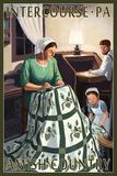Intercourse, Pennsylvania - Amish Quilting Scene Plastic Sign by  Lantern Press