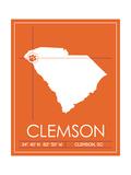 Clemson University State Map Plakater af Lulu