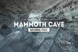 Mammoth Cave, Kentucky - Rubber Stamp Plastic Sign by  Lantern Press