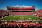 Nebraska: Blue Sky over Memorial Stadium Photographic Print by Eric Francis