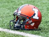 Illinois Football Helmet Fotografisk tryk af Bradley Leeb