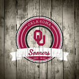 Oklahoma Sooners Logo on Wood Plakater af Lulu