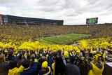 Fans Fill Michigan Stadium Fotografisk tryk af Tony Ding