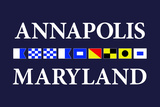 Annapolis, Maryland - Nautical Flags Plastic Sign by  Lantern Press