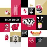 Wisonsin Badgers Collage Poster af Lulu