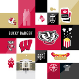 Wisonsin Badgers Collage Poster by  Lulu