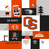 Oregon State Beavers Collage Poster af Lulu