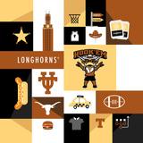 Texas Longhorns Collage Posters af  Lulu