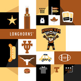 Texas Longhorns Collage Posters by  Lulu