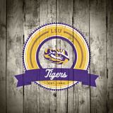 LSU Tigers Logo on Wood Posters af Lulu