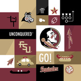Florida State Seminoles Collage Plakaty autor Lulu