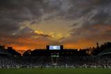 UNC: Sunset at Kenan Stadium Fotografisk tryk af Grant Halverson