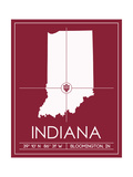 Indiana University State Map Posters by  Lulu