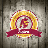 USC Trojans Logo on Wood Plakat af Lulu