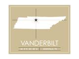 Vanderbilt University State Map Plakater af Lulu