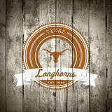 Texas Longhorns Logo on Wood Posters af  Lulu