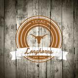 Texas Longhorns Logo on Wood Poster by  Lulu