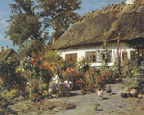 Cottage Garden Giclee Print by Peder Monsted