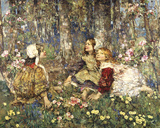 Music of the Woods Giclee Print by Edward Atkinson Hornel