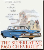 1960 GM Chevrolet Superlative Stretched Canvas Print
