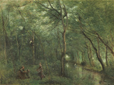 The Eel Gatherers Giclee Print by Jean-Baptiste-Camille Corot