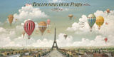 Ballooning Over Paris Giclee Print by Isiah and Benjamin Lane