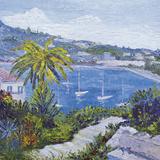 Le Banc de Pierre a Villefranche-Sur-Mer Wydruk giclee autor Tania Forgione