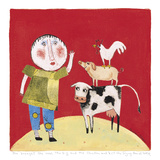 She Brought the Cow Giclee Print by Barbara Olsen
