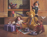 Ted and Friends IV Giclee Print by Raymond Campbell