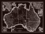 Map of Australia Giclee Print